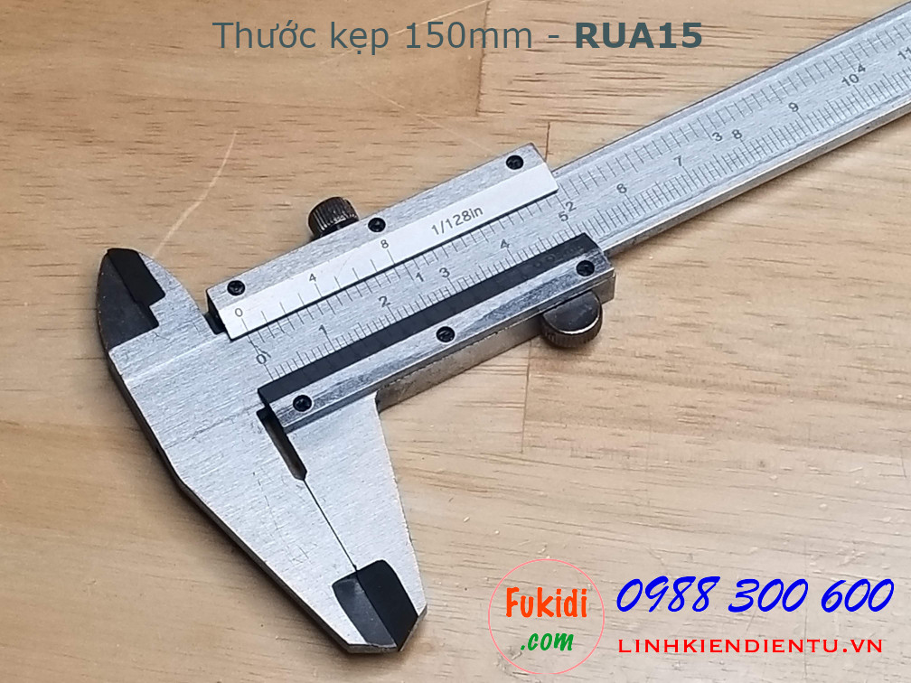 Thước kẹp tầm đo 15cm, chất liệu thép không rì, model RUA15
