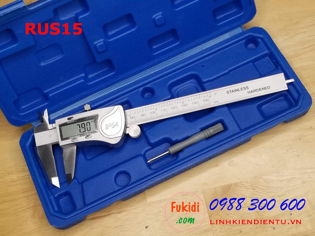 Thước kẹp điện tử RUS15, độ chính xác cao, chống thấm IP54, tầm đo 150mm