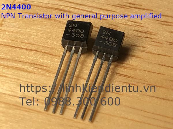 2N4400 NPN Transistor With General Purpose Amplifier