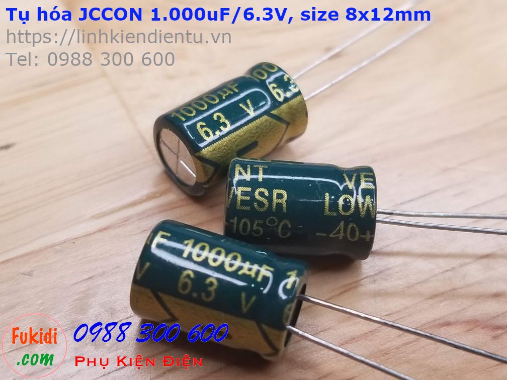 Tụ hóa JCCON 1000uF 6.3V size 8x12mm