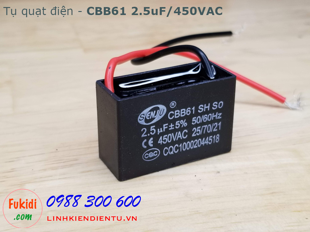 Tụ CBB61 2.5uF 450V