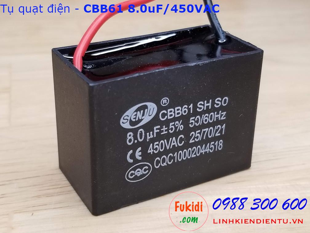 Tụ CBB61 8.0uF 450V