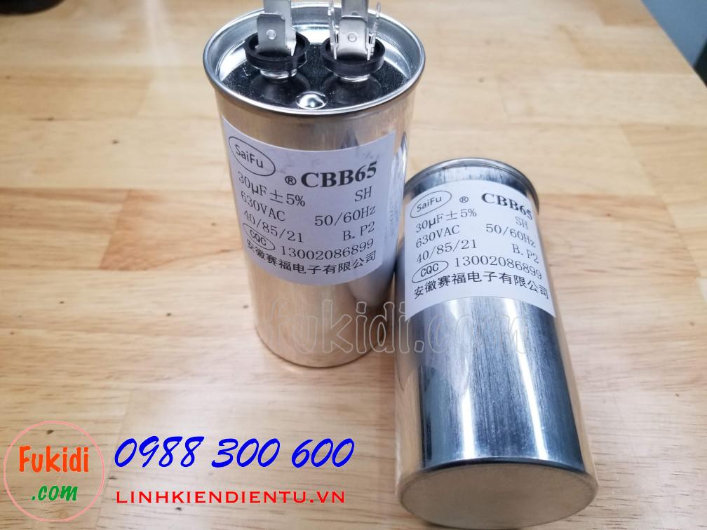 Tụ CBB65 30uF 630VAC 50x90mm