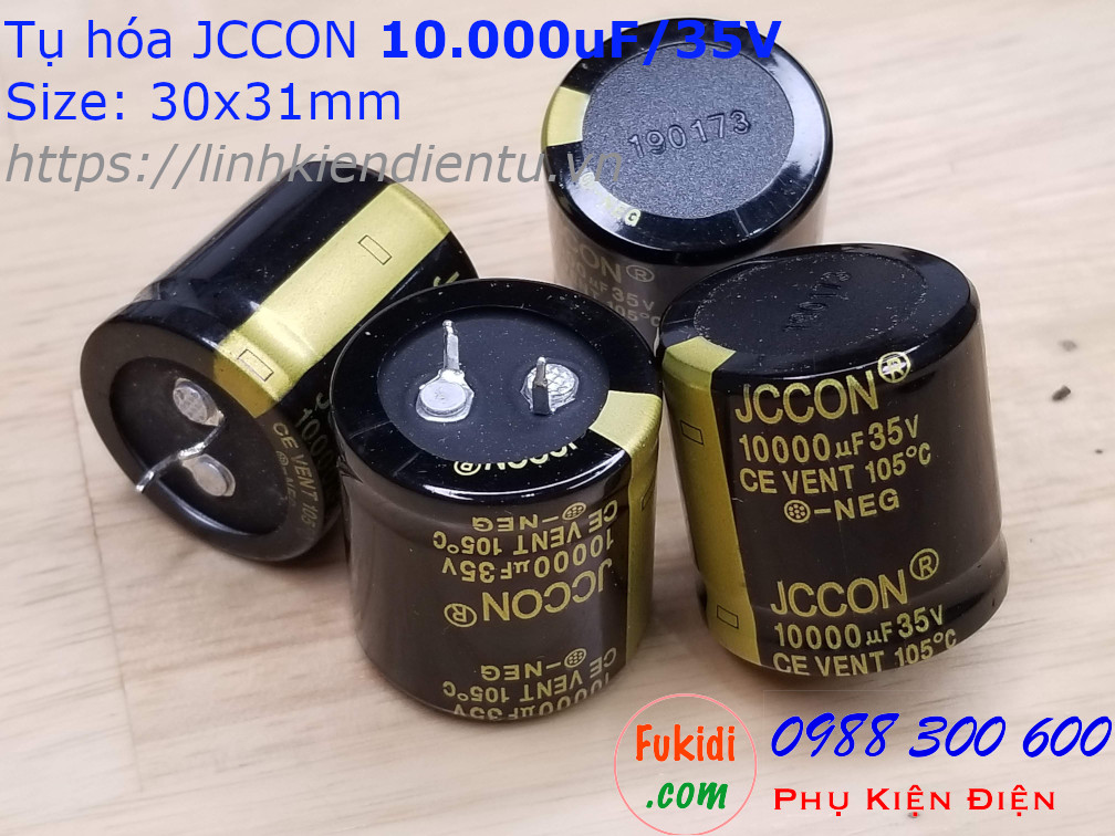Tụ hóa 10000uF 35V size 30x31mm 10.000uF/35V