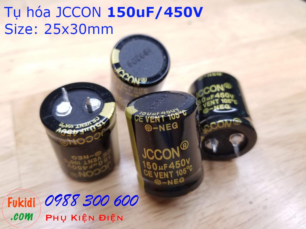 Tụ hóa JCCON 150uF 450V size 25x30mm
