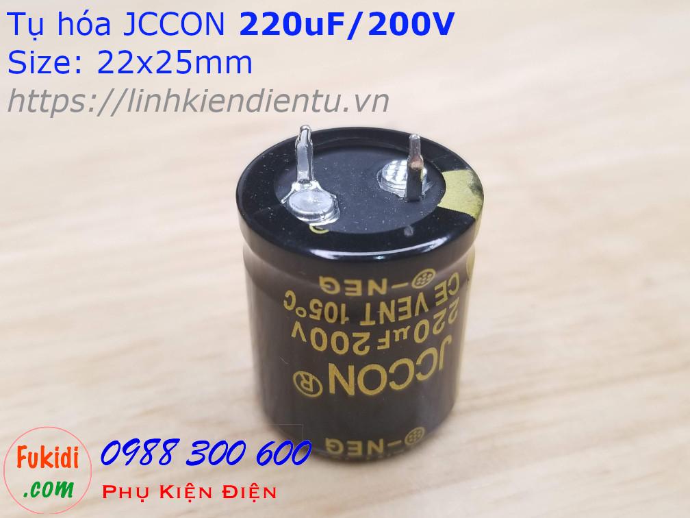 Tụ hóa 220uF 200V size 22x25mm