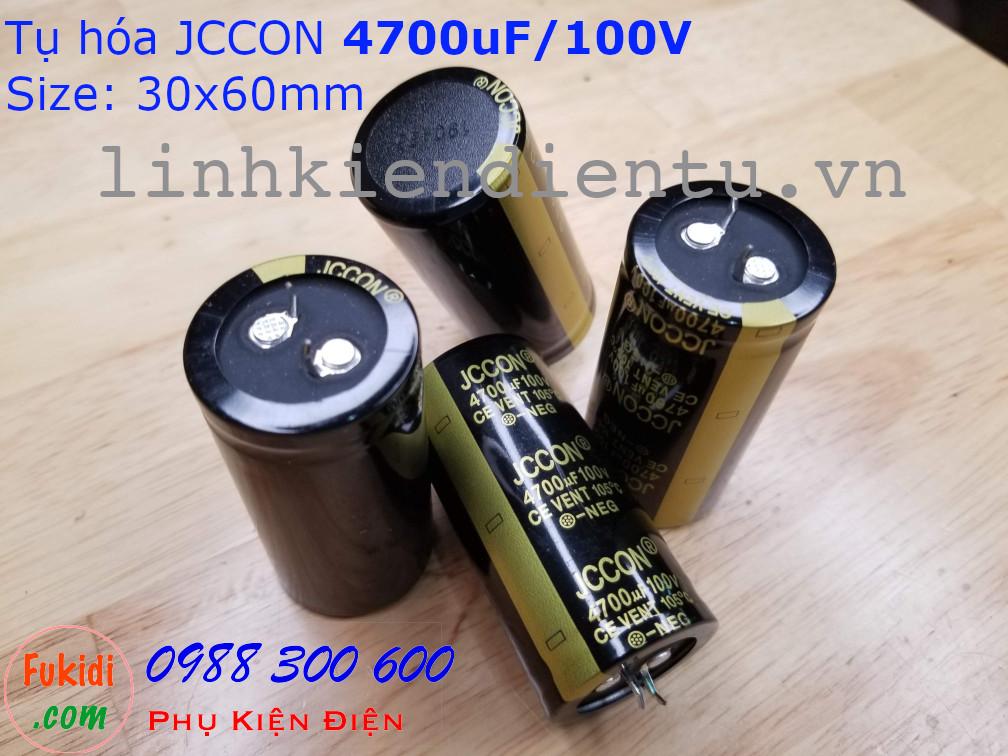 Tụ hóa JCCON 4700uF 100V size 30x60mm