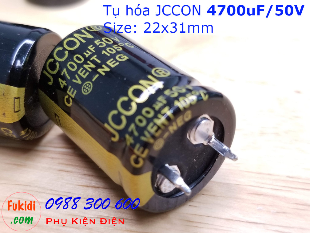 Tụ hóa 4700uF 50V size 22x31mm