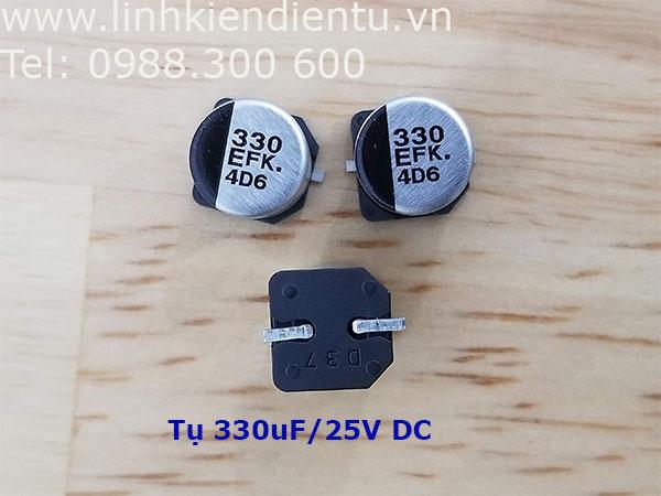 Tụ nhôm Panasonic 330uF 25V SMD