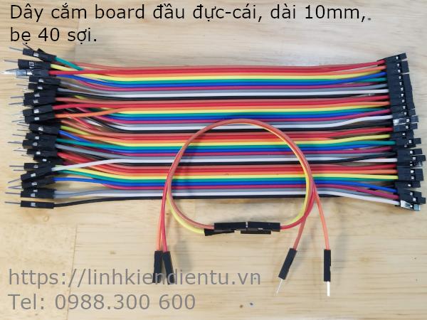 Bẹ dây nối board mạch 40 sợi - đầu đực-cái, dài 15mm