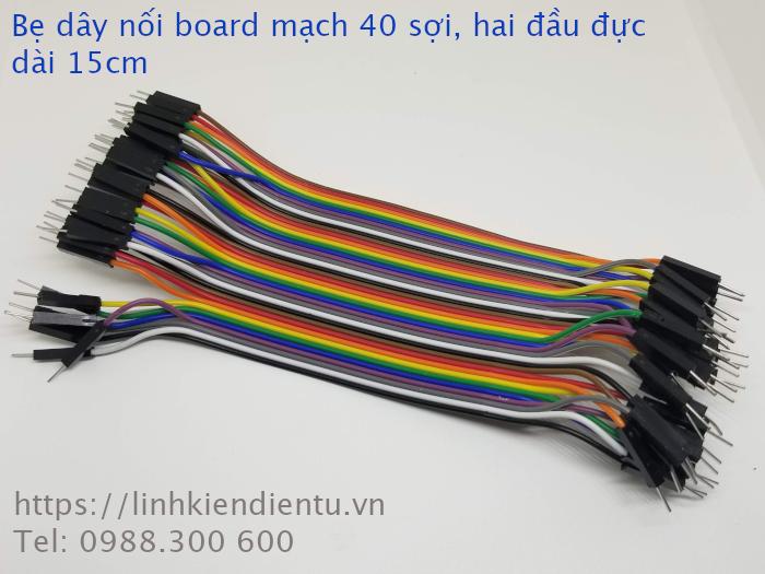 Bẹ dây nối board mạch 40 sợi - hai đầu đực, dài 15cm