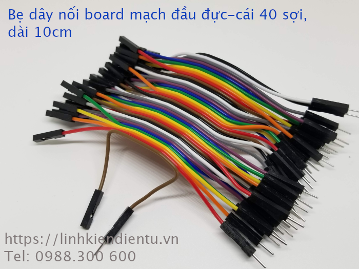 Bẹ dây nối board mạch 40 sợi  - đầu đực-cái, dài 10cm