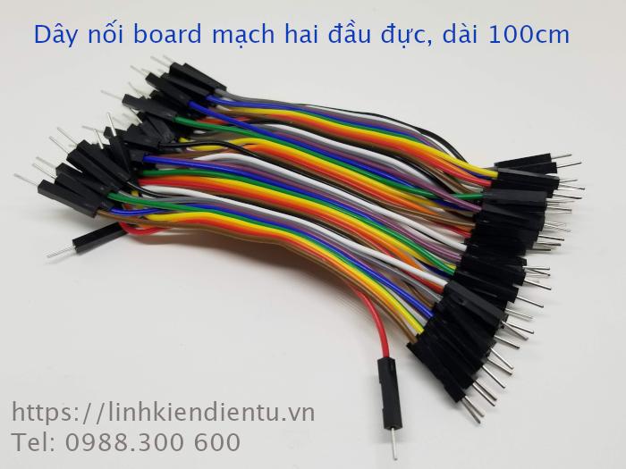 Bẹ dây nối board mạch 40 sợi  - hai đầu đực, dài 10cm