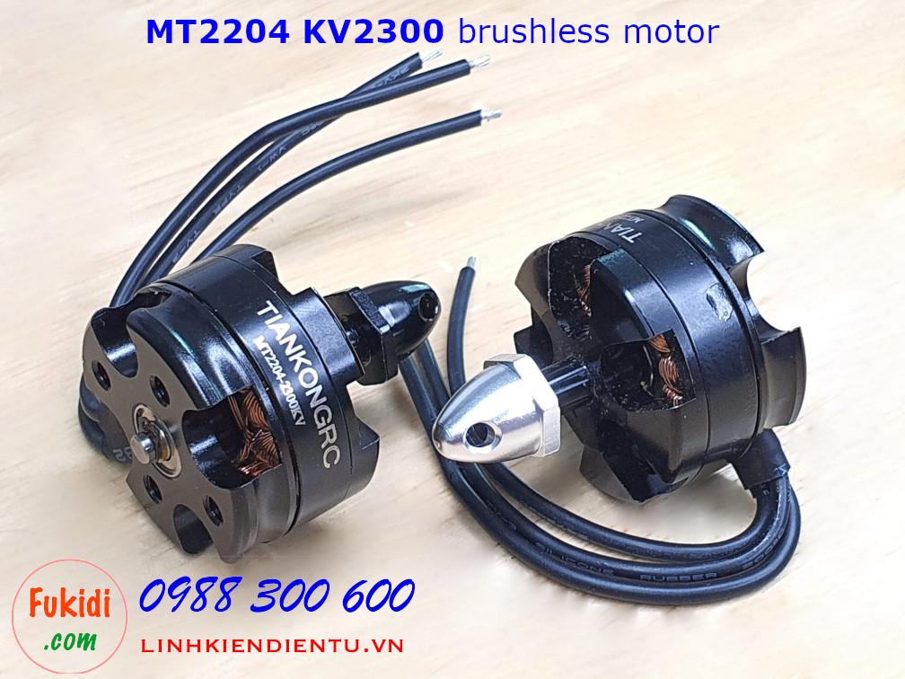 Động cơ điện không chổi than MT2204 KV2300 dùng có máy bay điều khiển mini