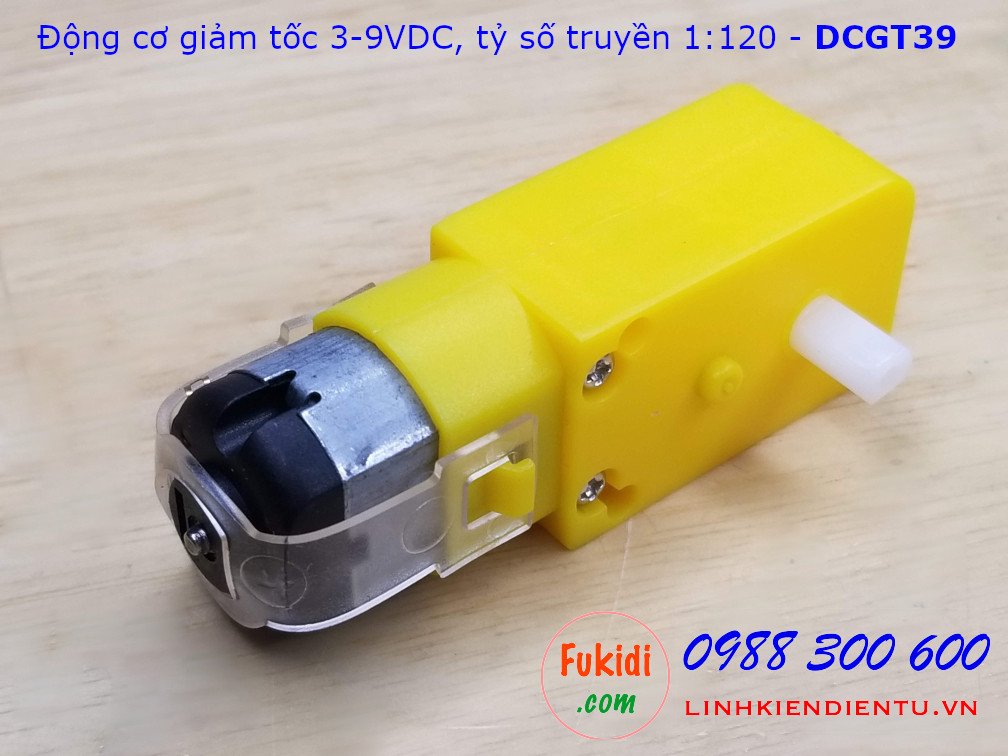 Động cơ giảm tốc mini 3-9VDC tỷ số truyền 1:120 - DCGT39